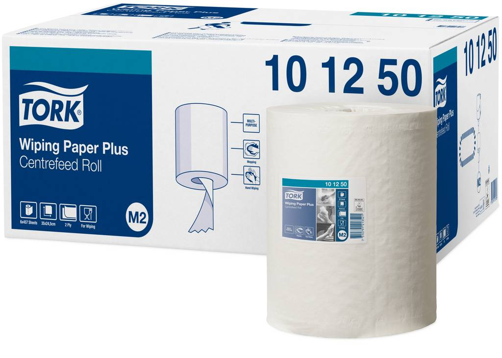Tork Poetspapier plus wit 2-laags 457 vel 160m