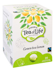 Tea of Life Pyramid green tea lemon, fairtrade 2gr