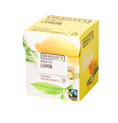 Bradley's Favourites green tea lemon, fairtrade 1,75gr