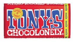 Tony's Chocolonely Chocoladereep melk FT 180gr