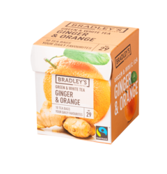 Bradley's Favourites green & white tea ginger & orange 1,75gr
