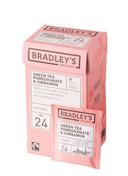 Bradley's Green tea pomegranate & cinnamon ft + bio 2gr