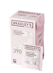 Bradley's White tea strawberry & vanilla, ft + bio