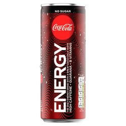 Coca Cola Energy no sugar blik 25cl